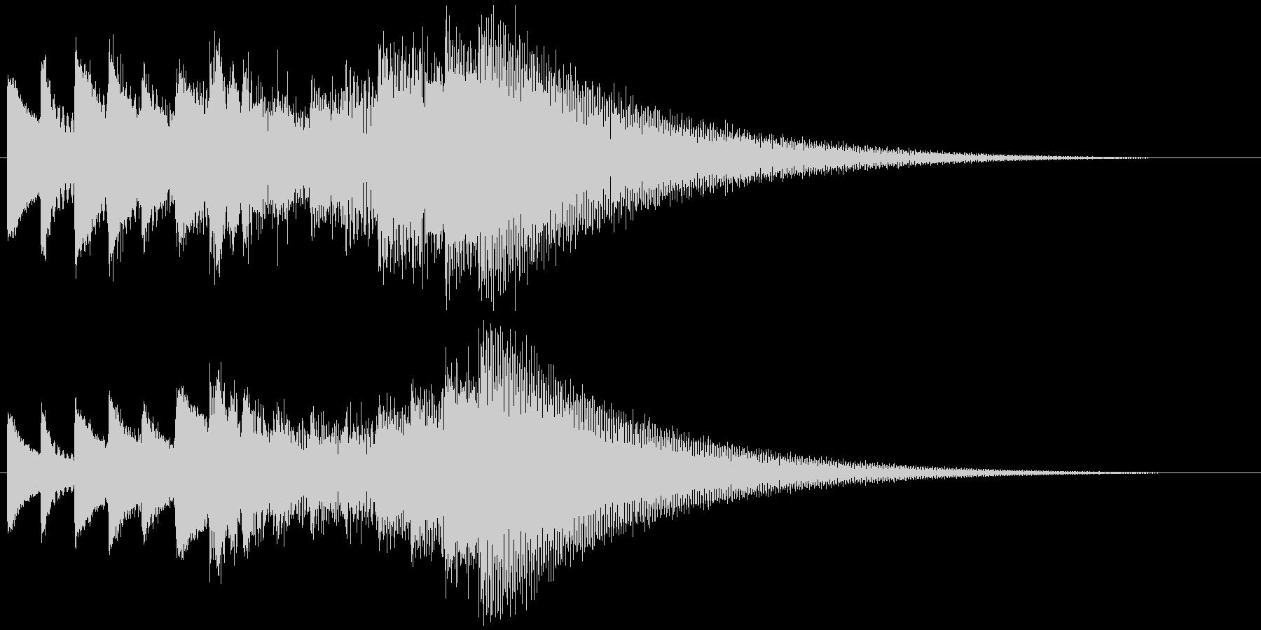 キラキラーン ゆっくり上昇(鉄琴風)の未再生の波形