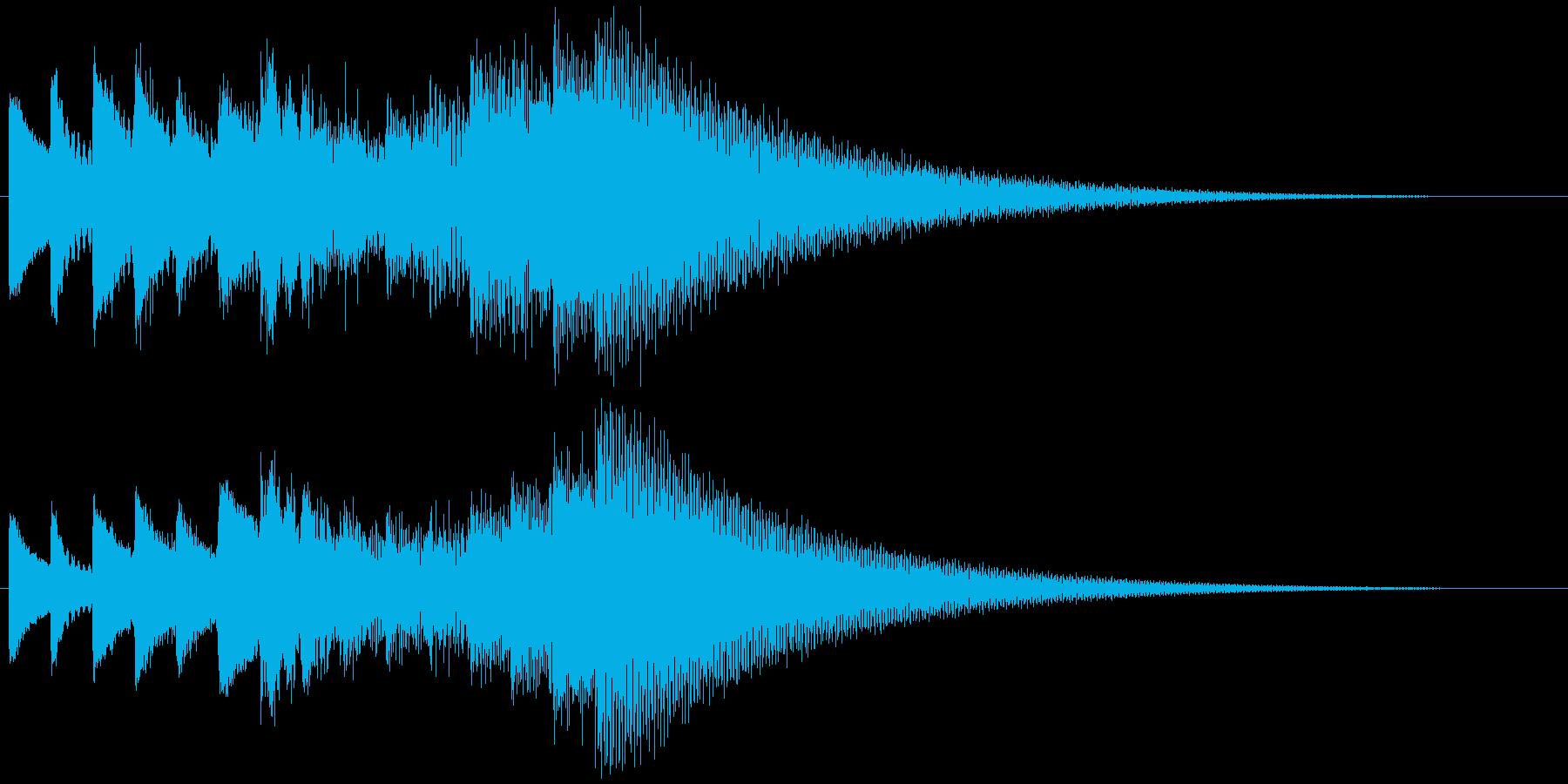 キラキラーン ゆっくり上昇(鉄琴風)の再生済みの波形