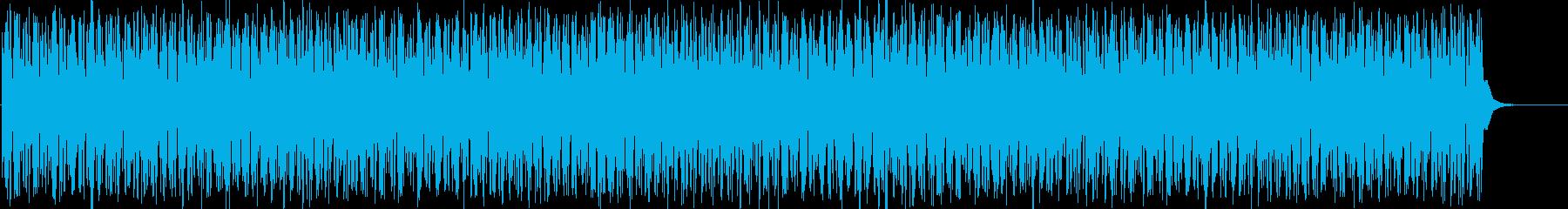 サイケデリックなリズムトラック。映像等にの再生済みの波形