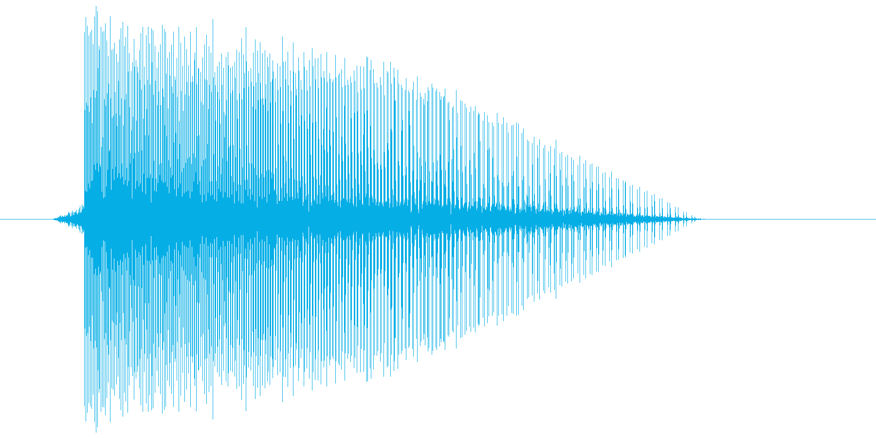 ゲーム(ファミコン風)レーザー音_007の再生済みの波形