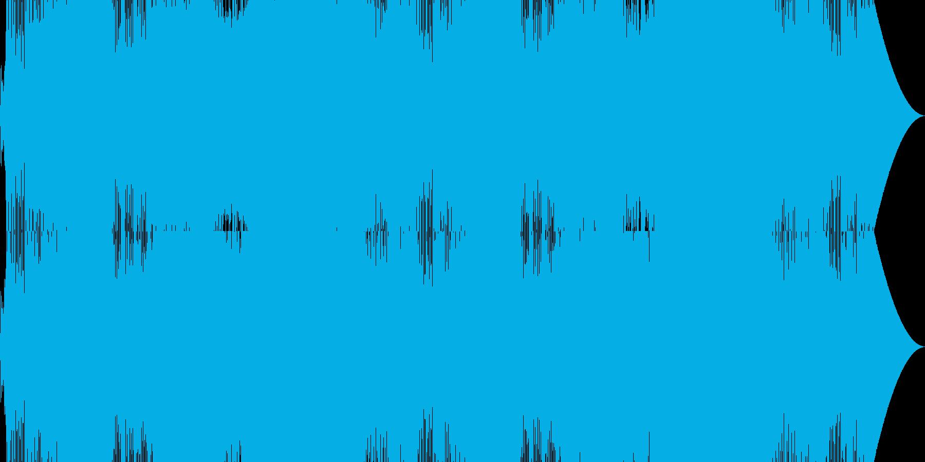 ダンスミュージック×ハードロックの再生済みの波形