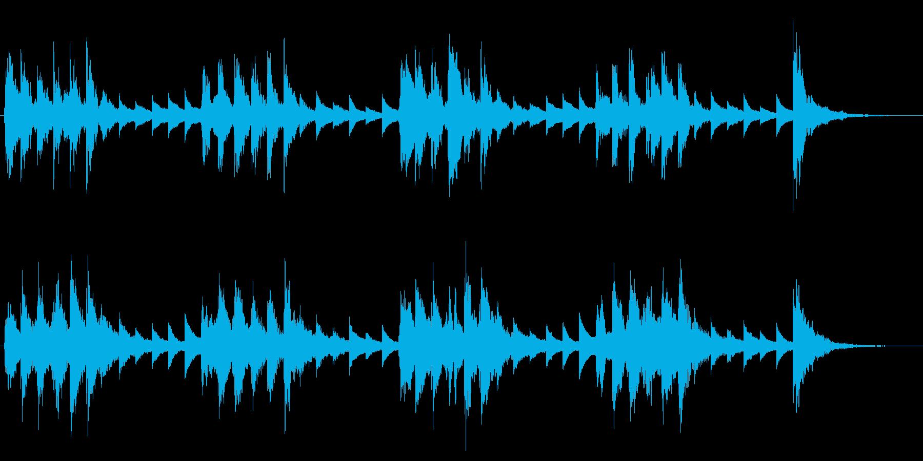 穏やかで可愛らしい小編成オーケストラロゴの再生済みの波形