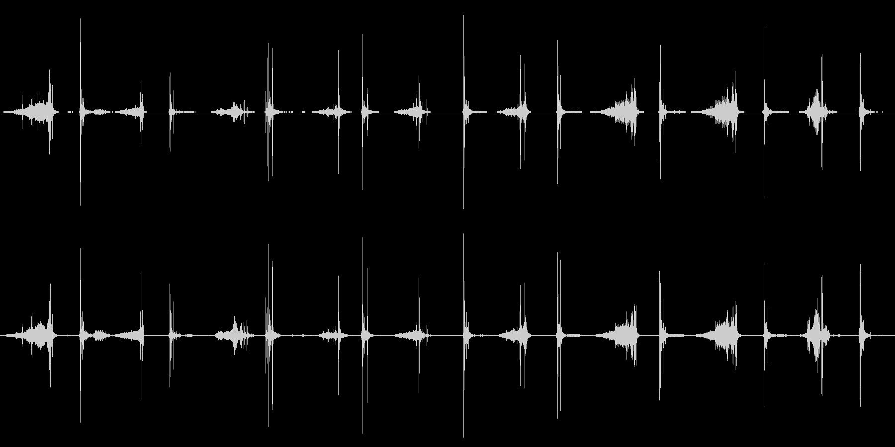 カードのヒンズーシャッフルの未再生の波形