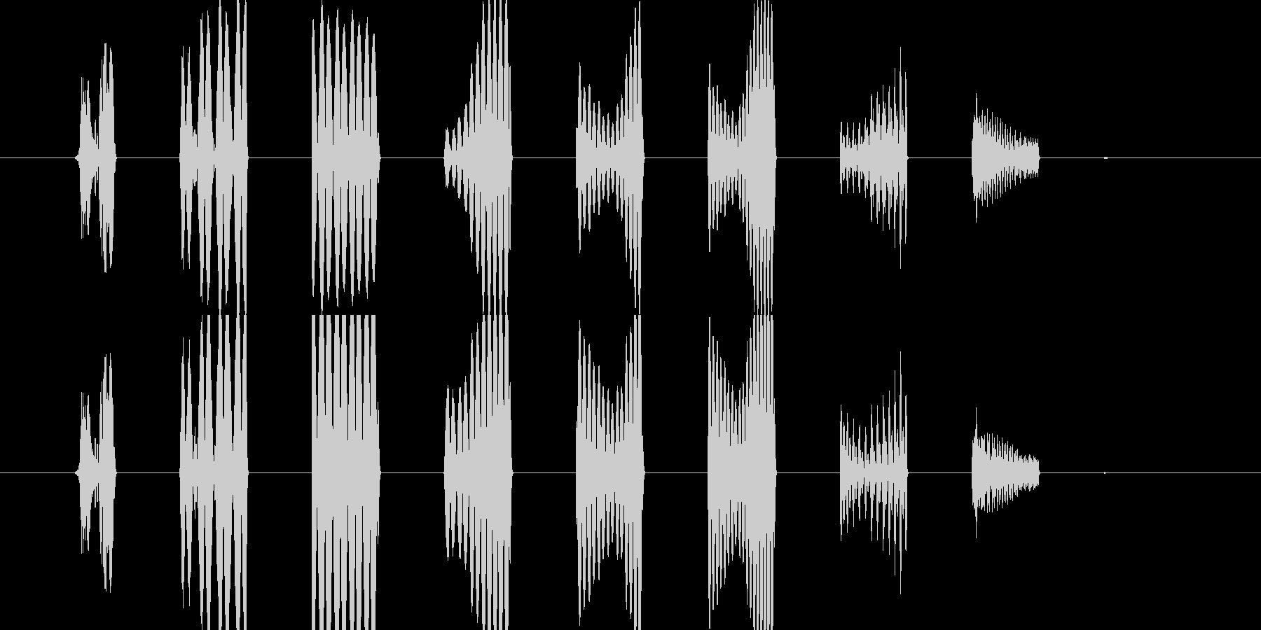 効果音(スタート音)の未再生の波形