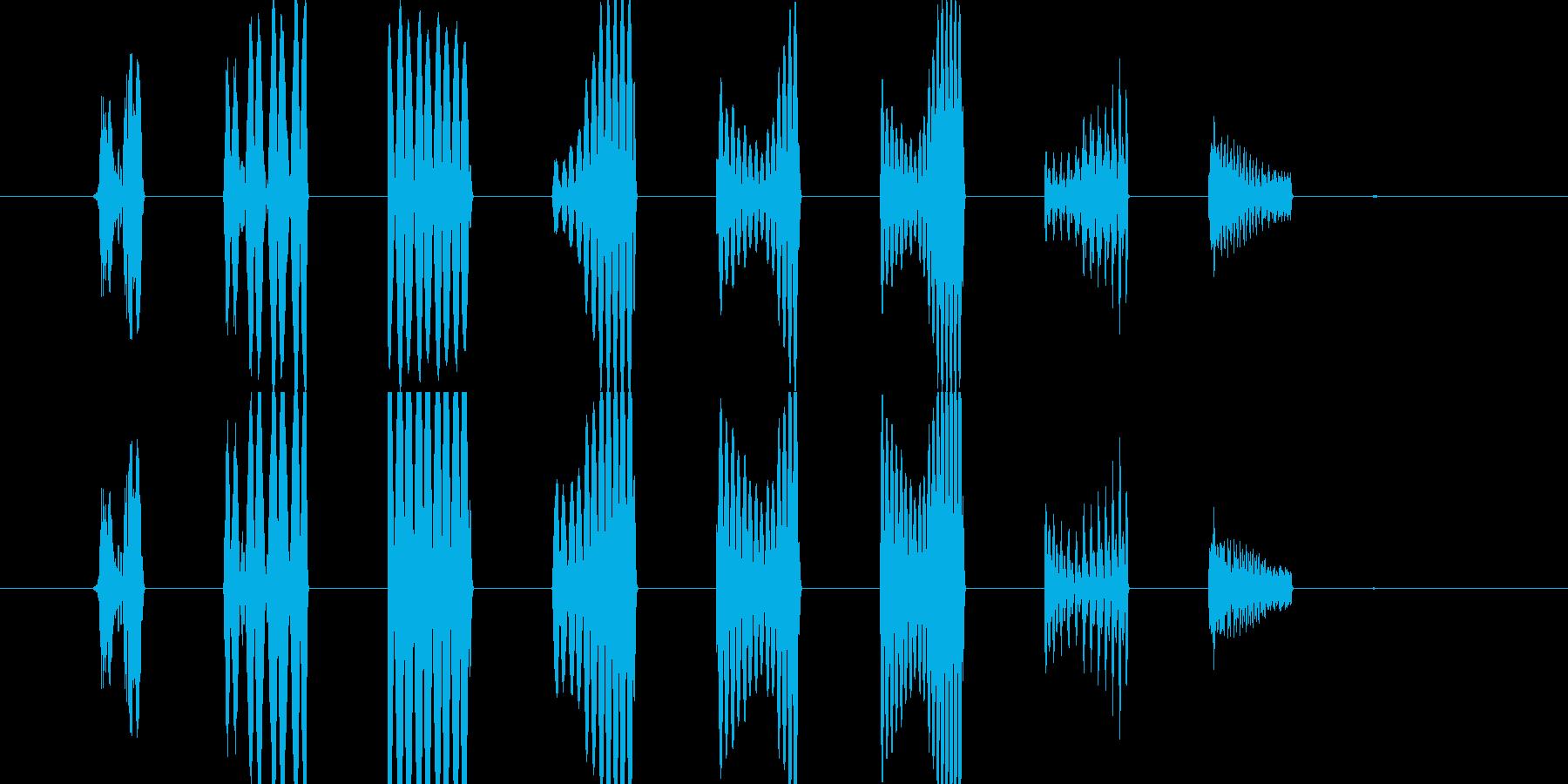 効果音(スタート音)の再生済みの波形