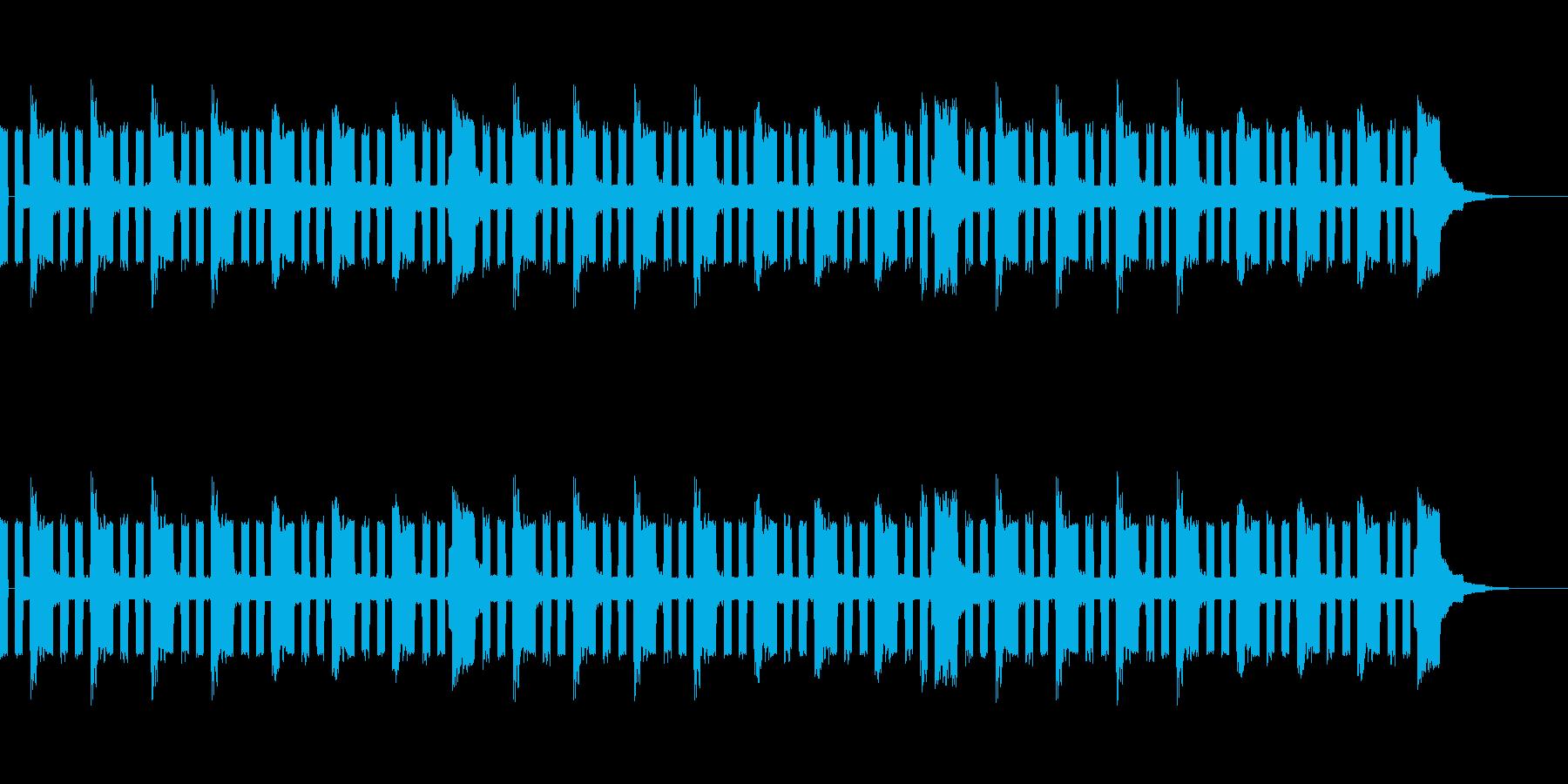 チップチューン風ループ(エコー付き)の再生済みの波形