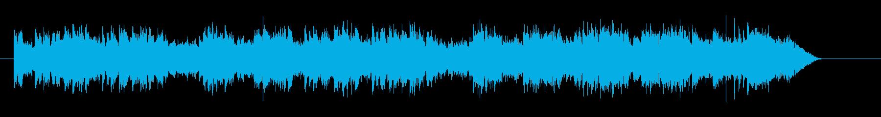 ゆったりと優しいリラクゼーションジングルの再生済みの波形