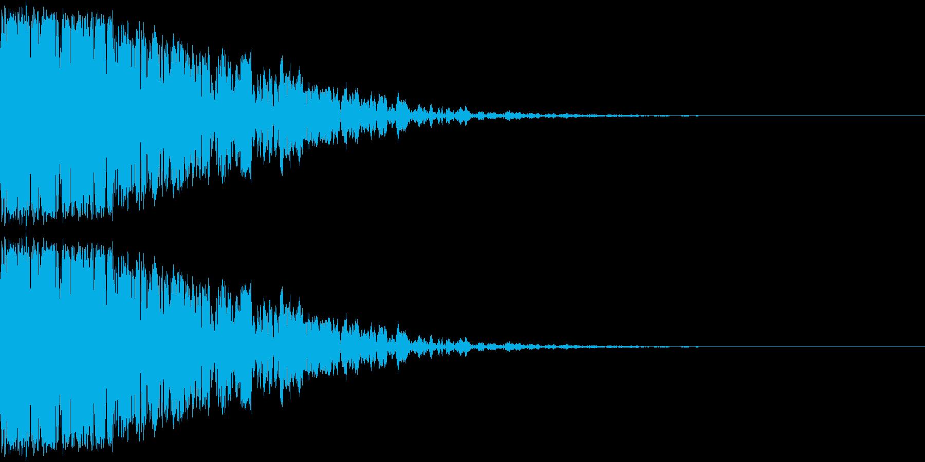 コォーン(感情:怒る)の再生済みの波形