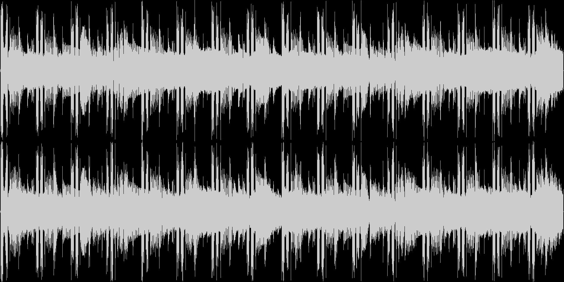 神秘的で不思議な雰囲気のテクノの未再生の波形