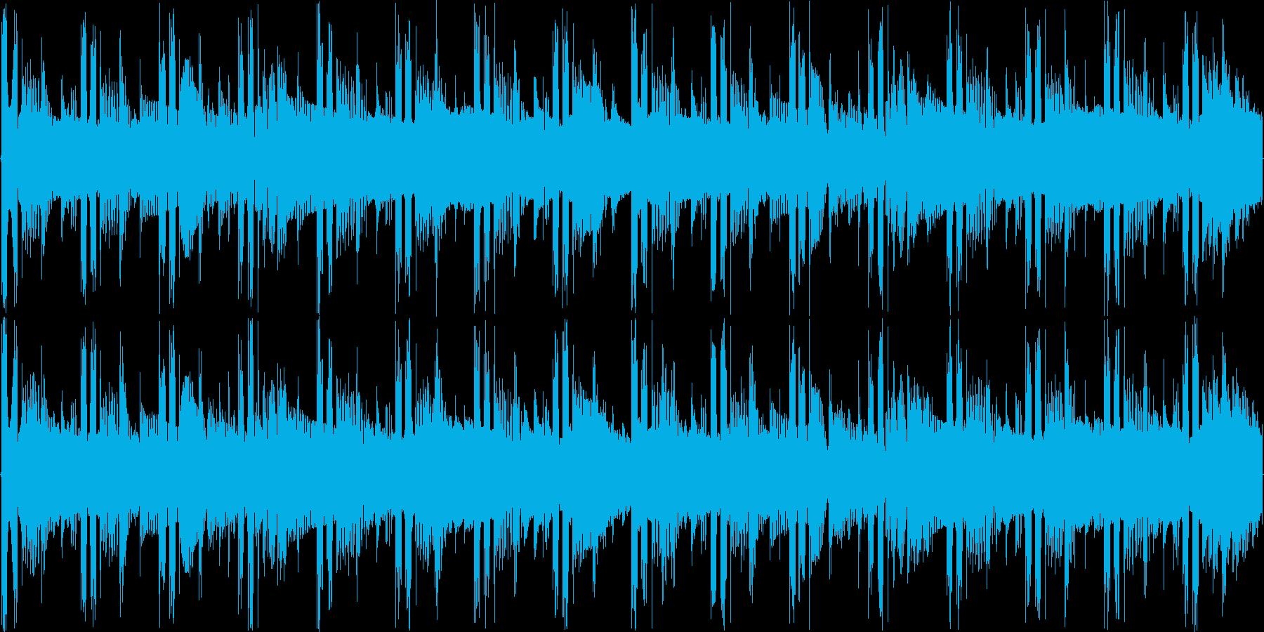 神秘的で不思議な雰囲気のテクノの再生済みの波形