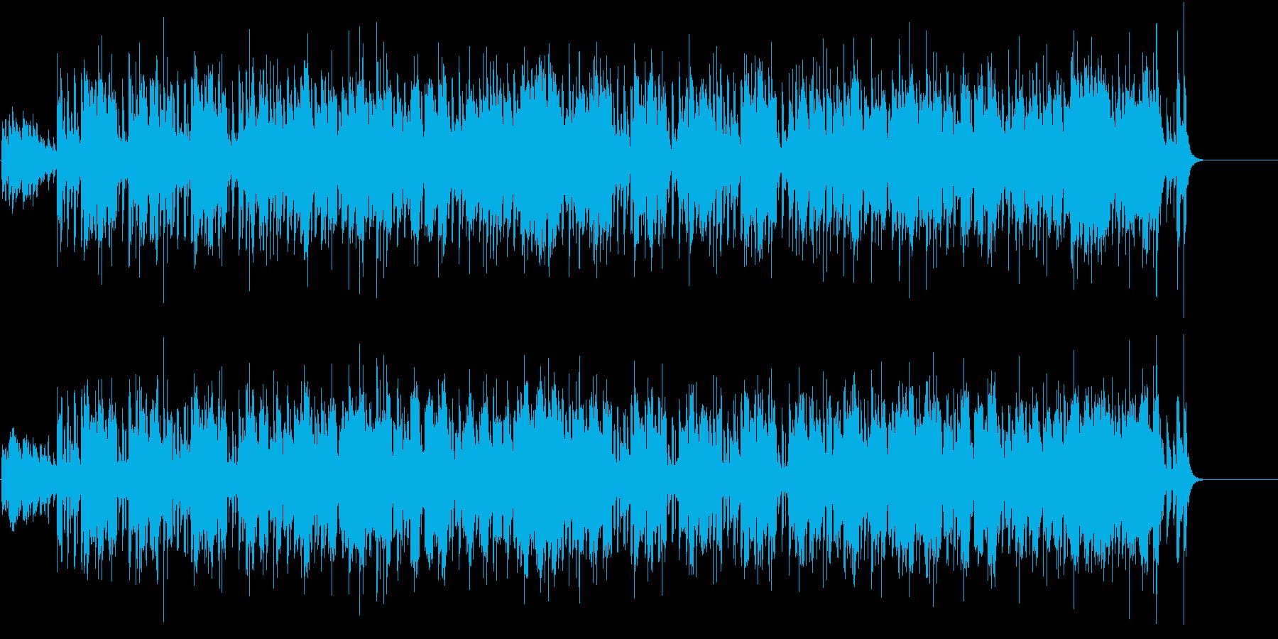 透明感のあるアコースティック風ポップスの再生済みの波形