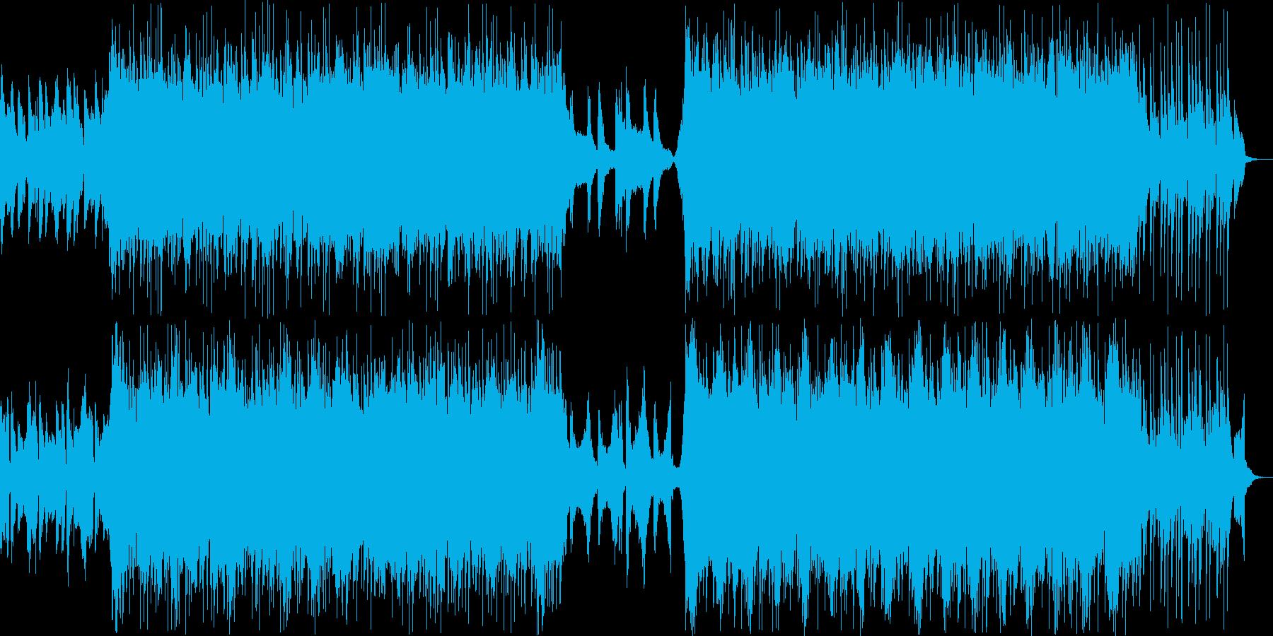 ストリングスとシンセのエピックトラックの再生済みの波形