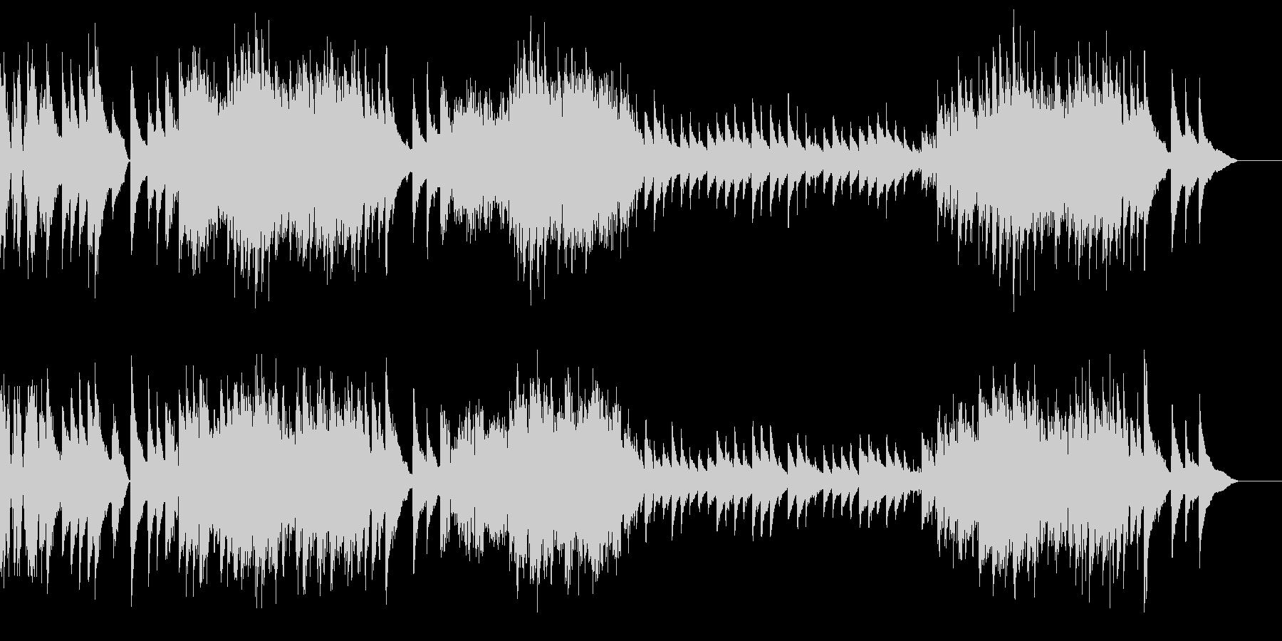 クラシック曲風の激しいピアノの未再生の波形