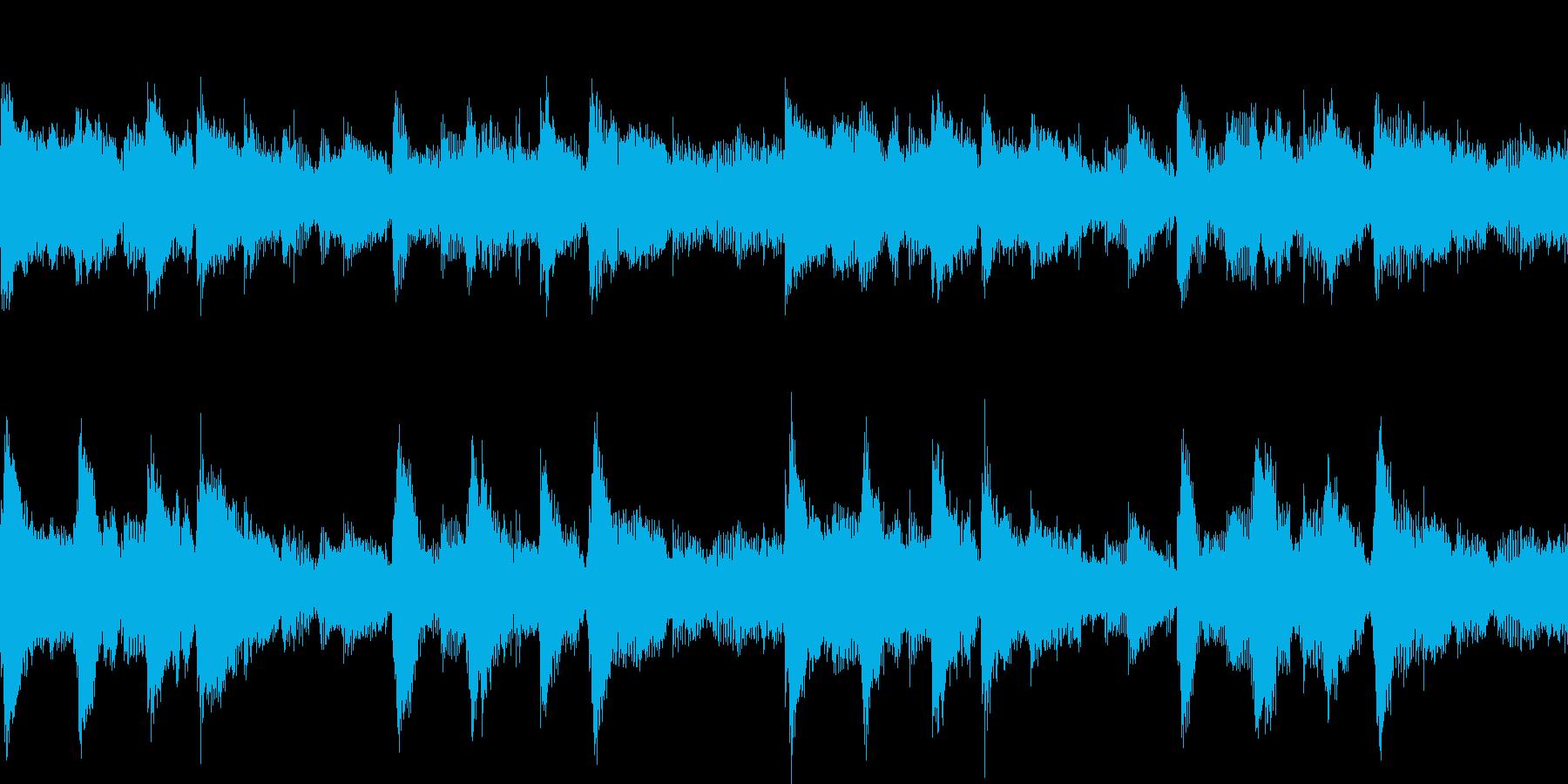 ピアノとアコギのBGM Loop可の再生済みの波形