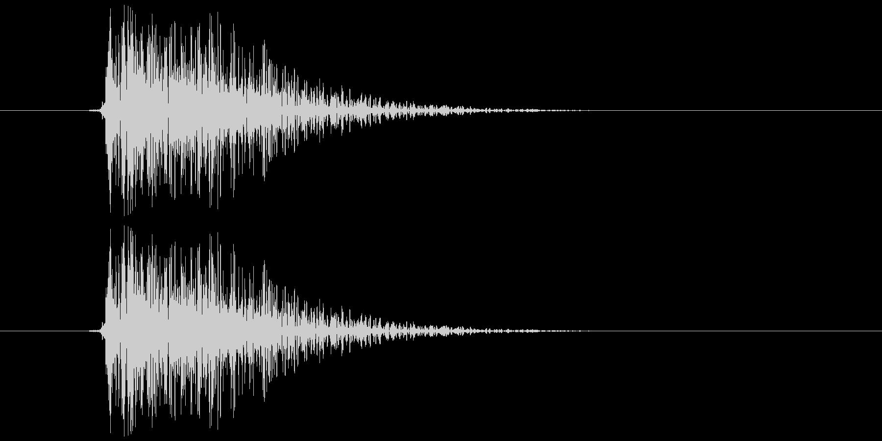 バコン(柔らかめ、金属系)の未再生の波形