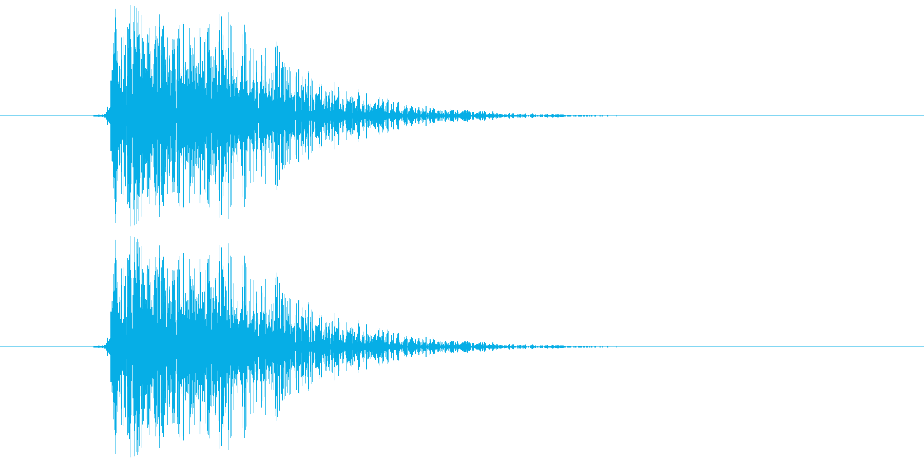 バコン(柔らかめ、金属系)の再生済みの波形