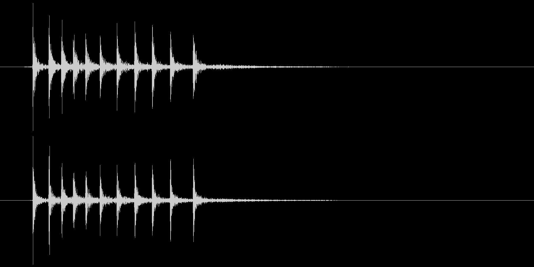 ゼンマイを巻く (キリッ)の未再生の波形