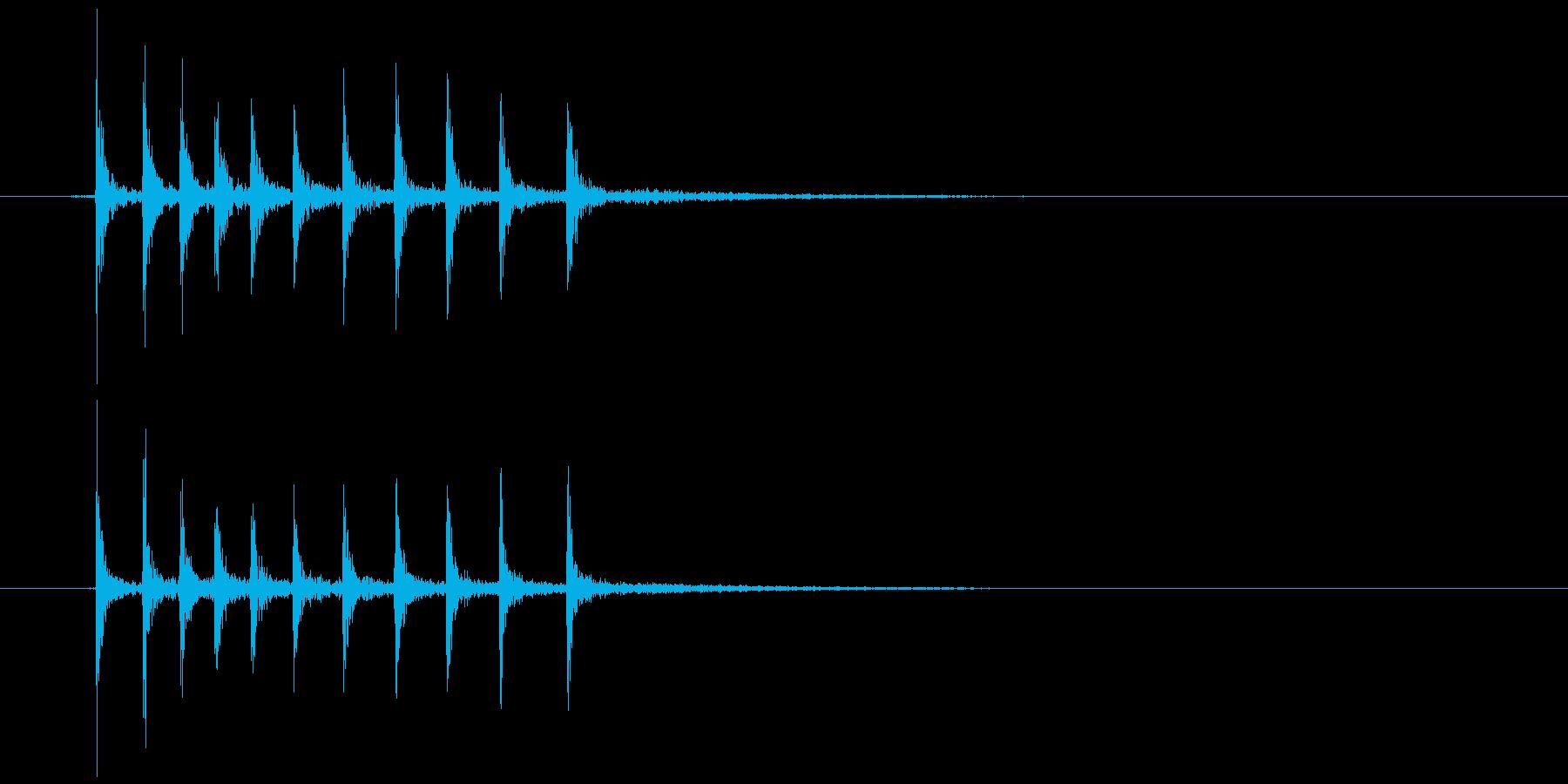 ゼンマイを巻く (キリッ)の再生済みの波形