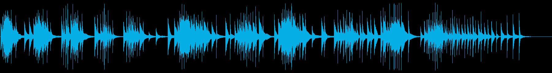 どこか不安定な印象のあるピアノサウンドの再生済みの波形