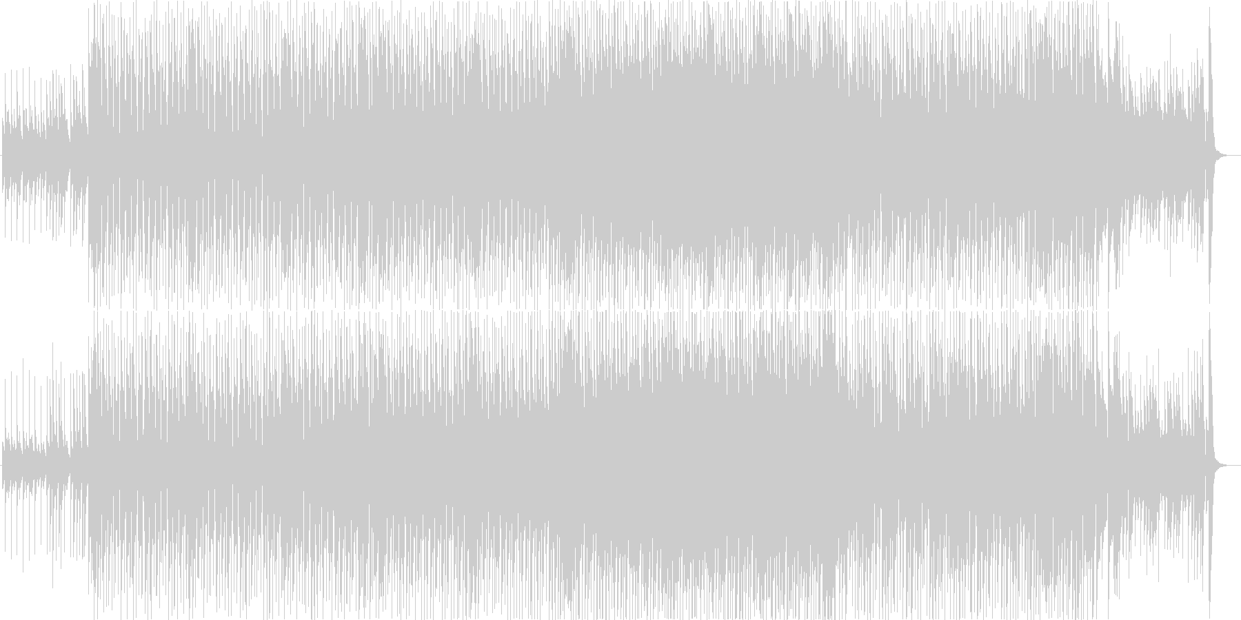 ウクレレのゆったりしたポップの未再生の波形