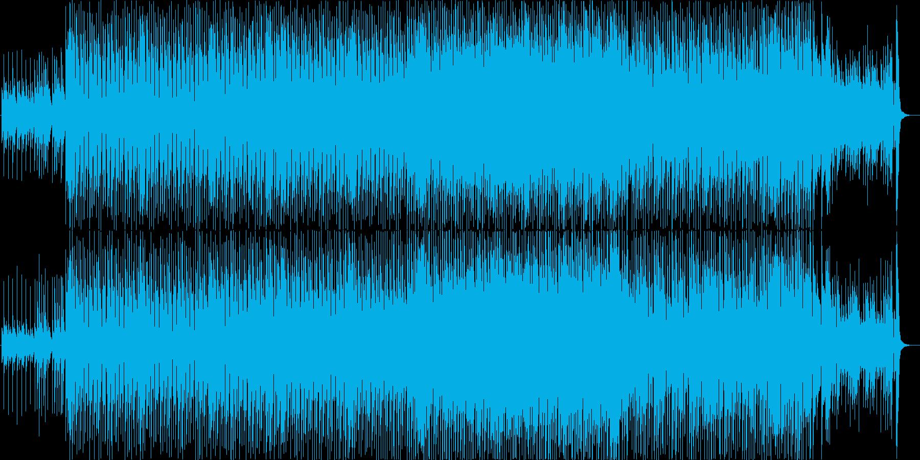 ウクレレのゆったりしたポップの再生済みの波形