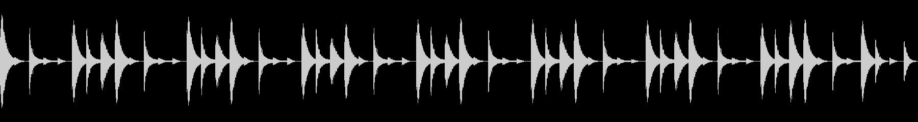 808音源を使用したシンプルなリズム01の未再生の波形