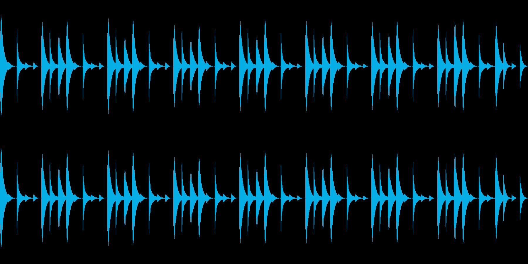 808音源を使用したシンプルなリズム01の再生済みの波形