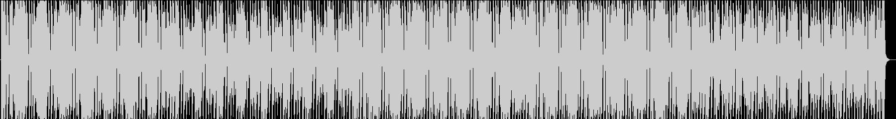 ファンキーで激しい曲の未再生の波形