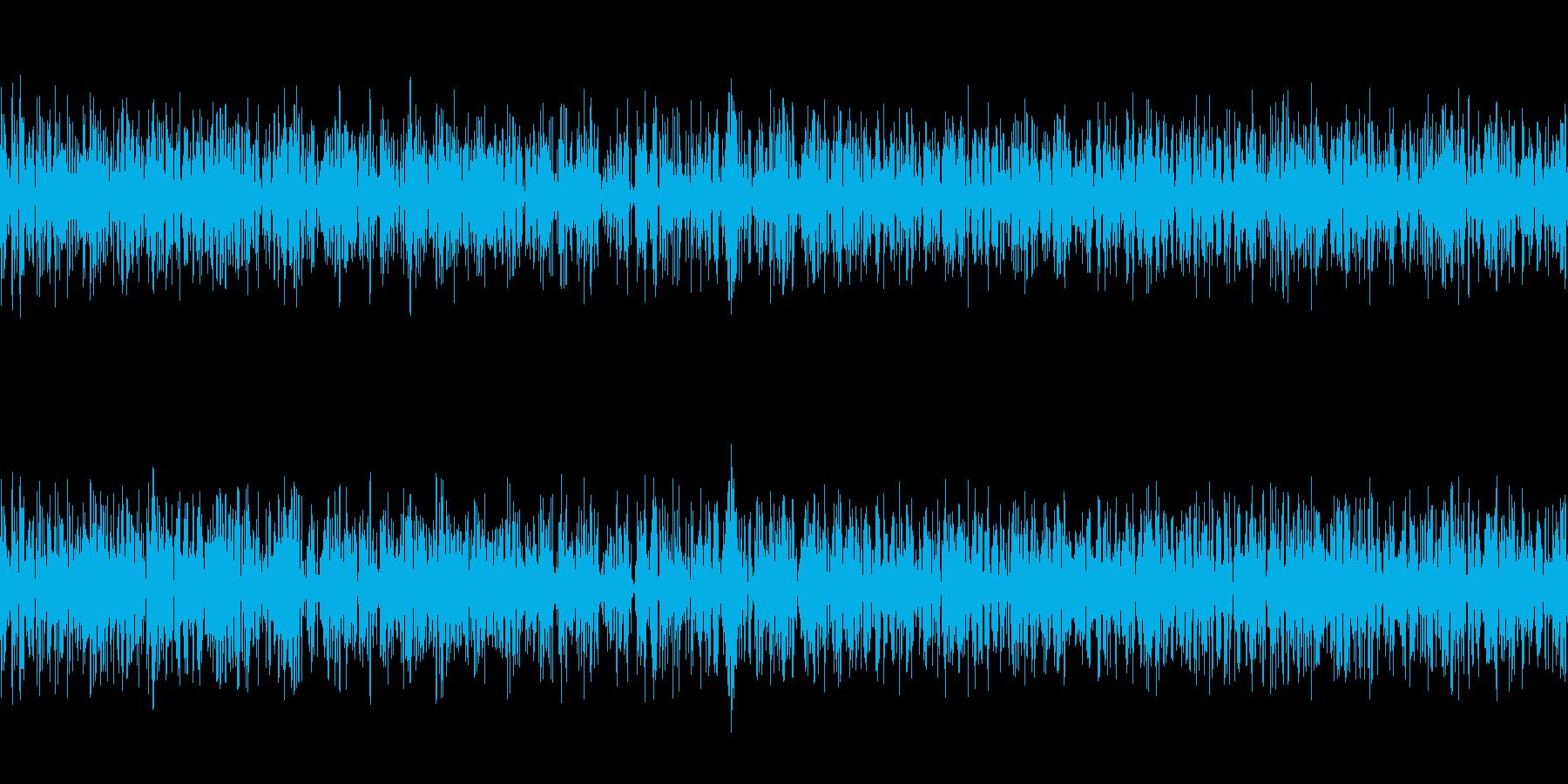 水中、液体、ゴボゴボ、ブクブク、ループの再生済みの波形