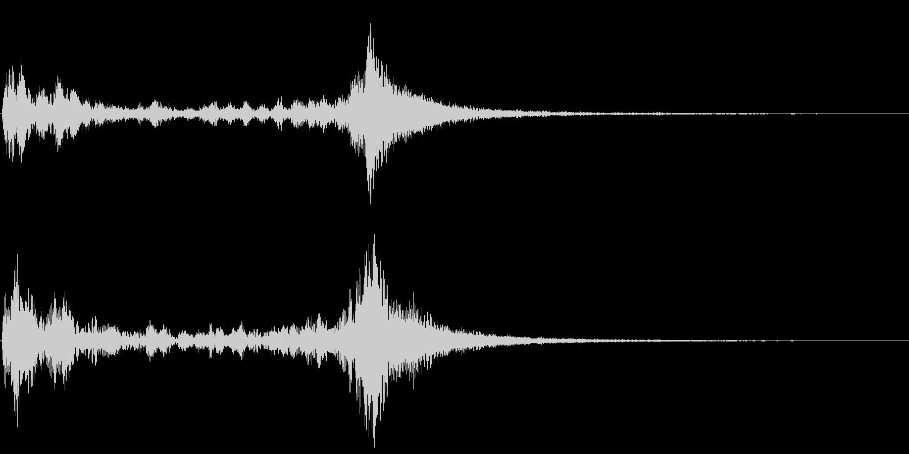 ティンパニのドラムロールです。の未再生の波形