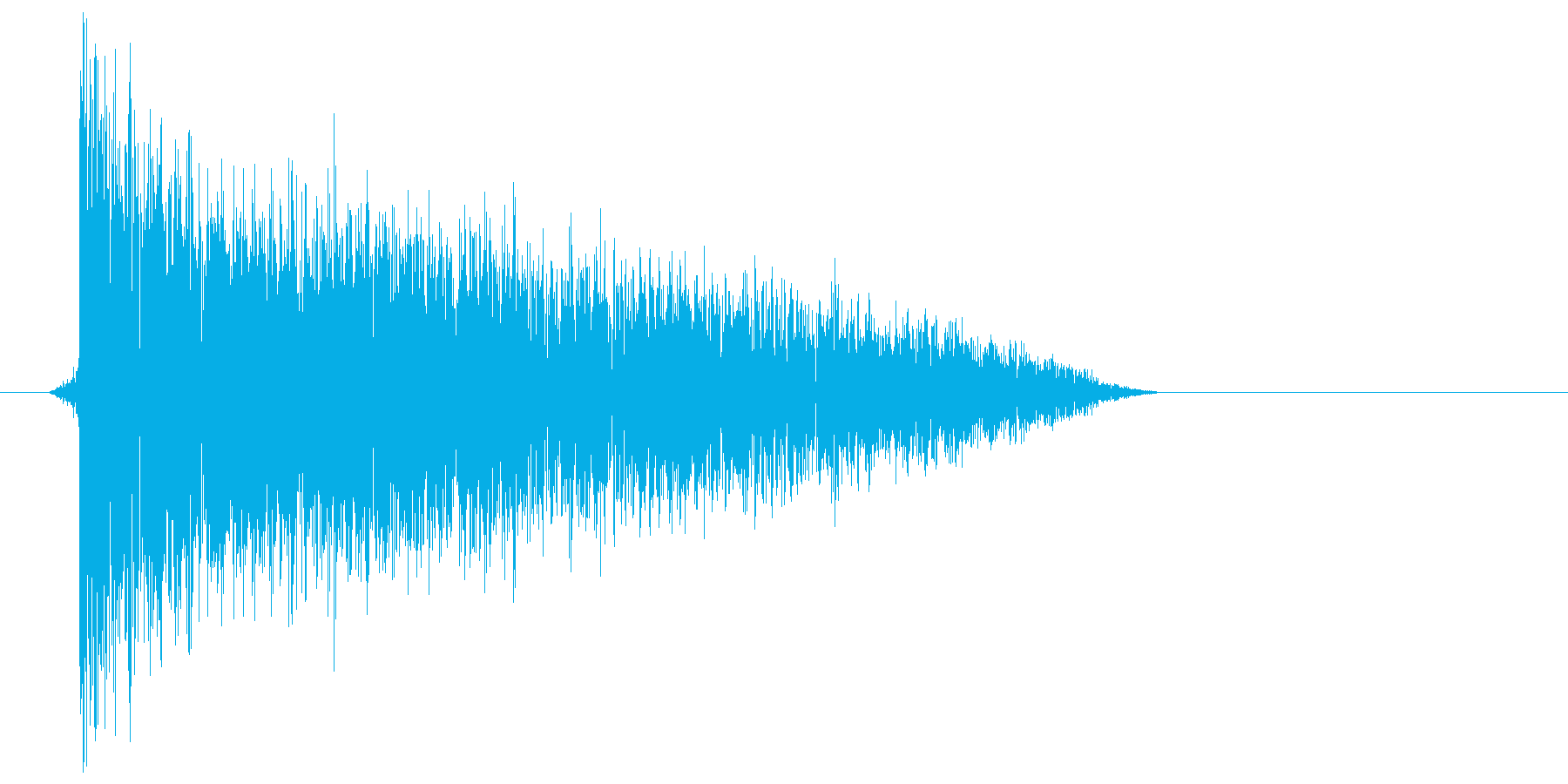 ゲーム(ファミコン風)爆発音_047の再生済みの波形