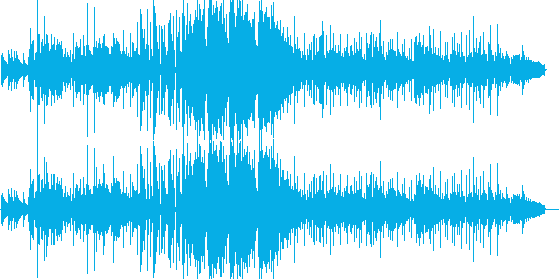 本物サックスであたたかく優しいサウンド曲の再生済みの波形