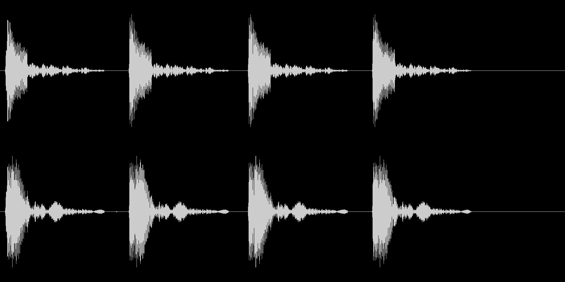 コッコッコッコッという鳴き声の未再生の波形