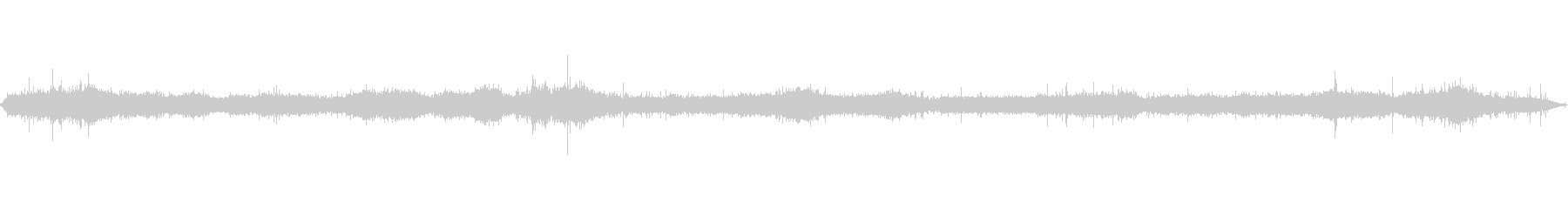 岩場の波音の未再生の波形