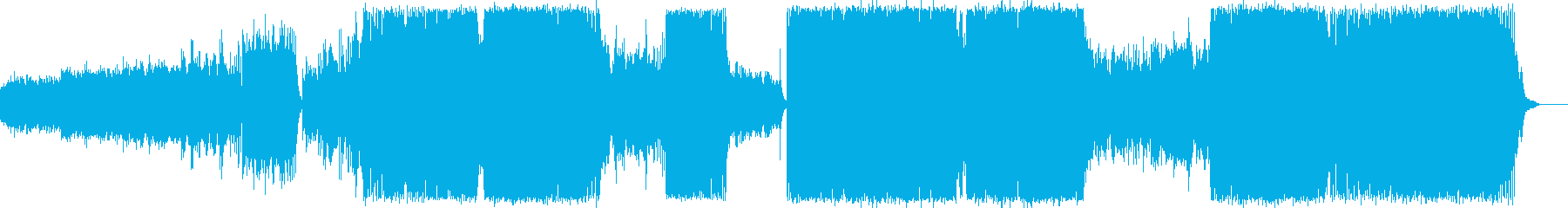ピアノメインのドラマテックなトランスの再生済みの波形