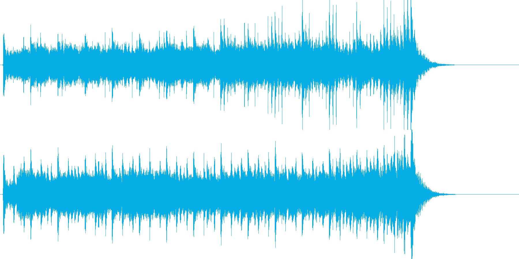 旅の終わりを彷彿とさせる20秒の楽曲の再生済みの波形