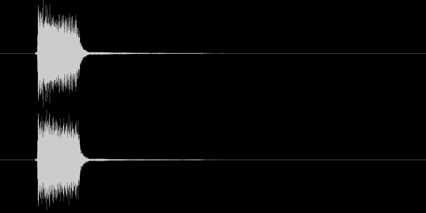 ダン!(短くシンプルな出題音)の未再生の波形