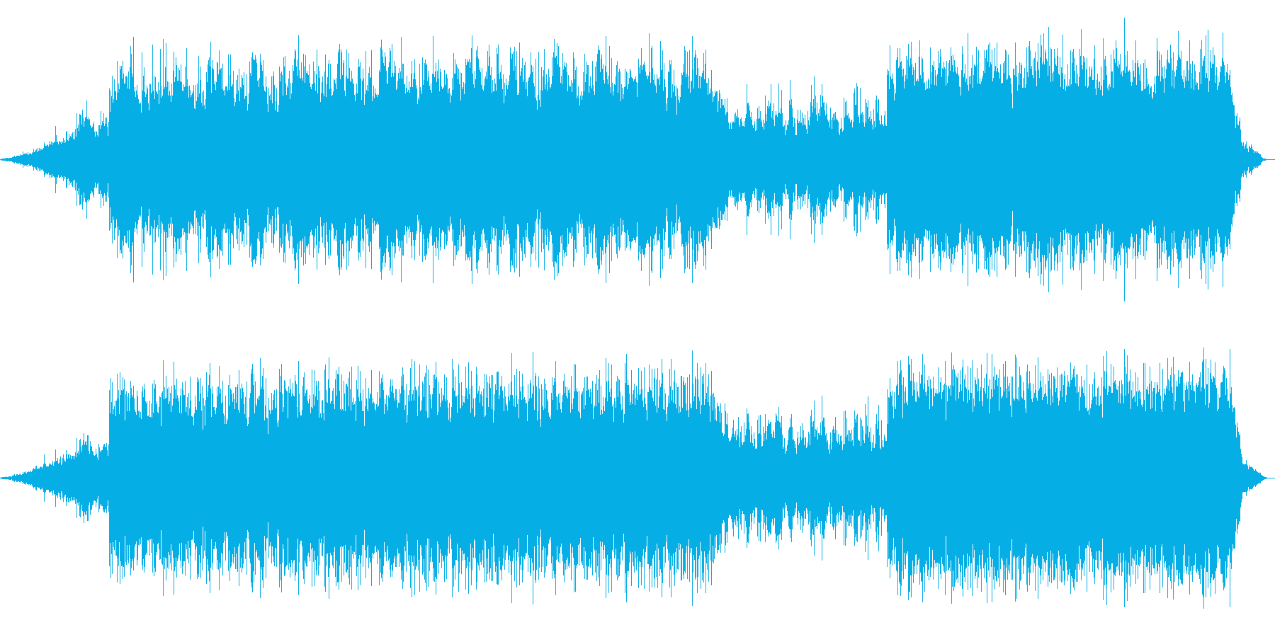 かっこいい幻想的な曲の再生済みの波形
