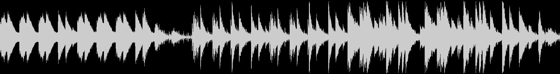 印象画のようなムードのピアノ曲の未再生の波形