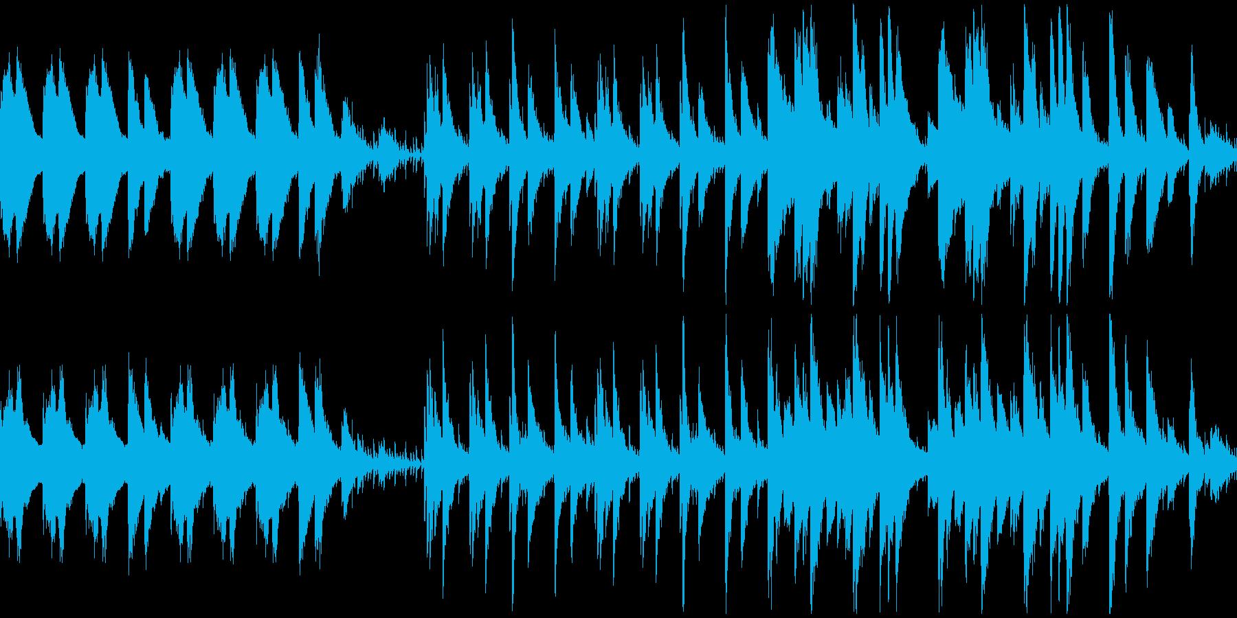 印象画のようなムードのピアノ曲の再生済みの波形