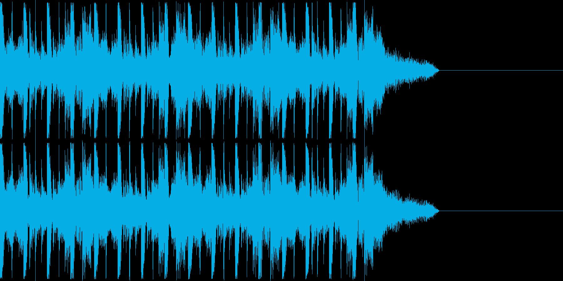 リズミカルなアコースティックハウスの再生済みの波形