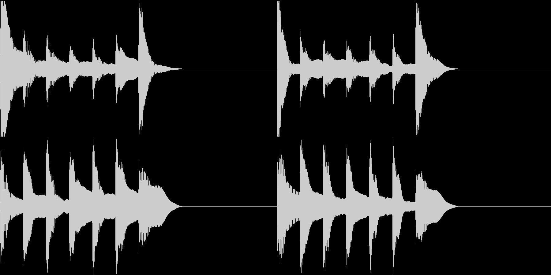 着信音 ループ お知らせ 通知 5の未再生の波形