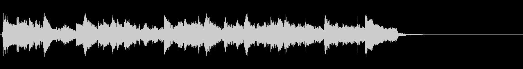 ジャズ風の優雅なBGM(イントロ)の未再生の波形