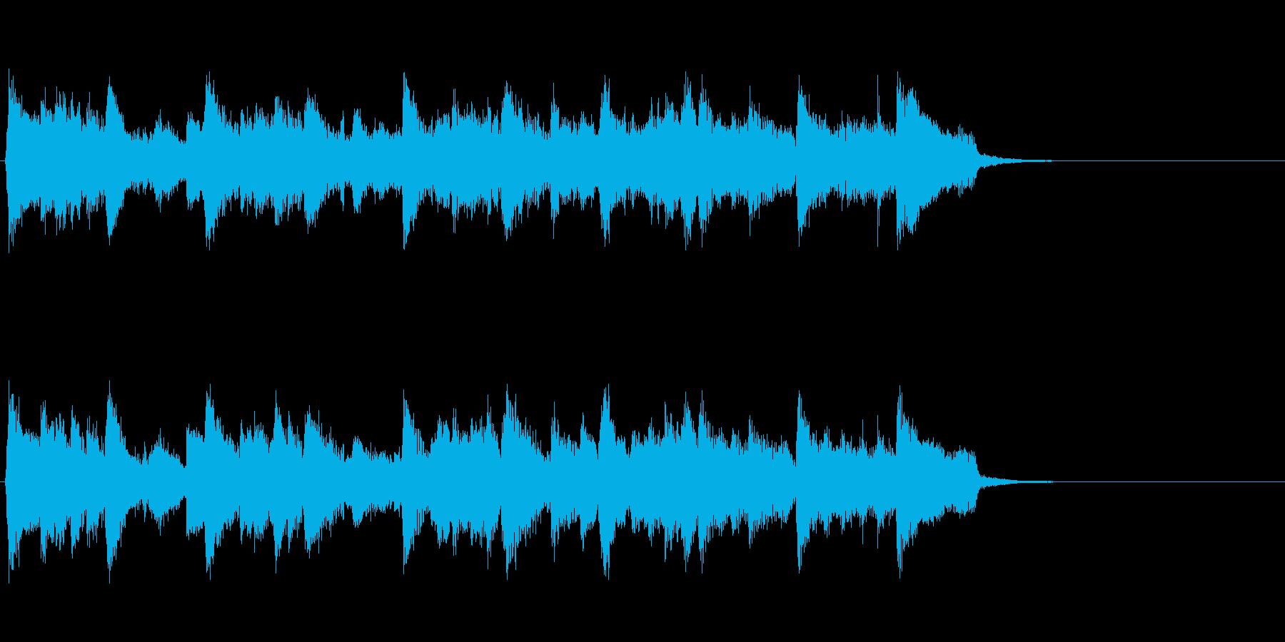 ジャズ風の優雅なBGM(イントロ)の再生済みの波形