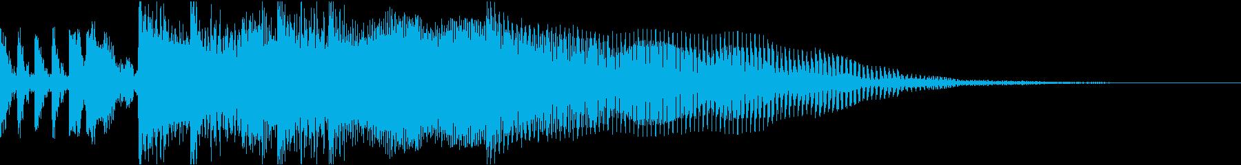 ロック調なサウンドロゴの再生済みの波形