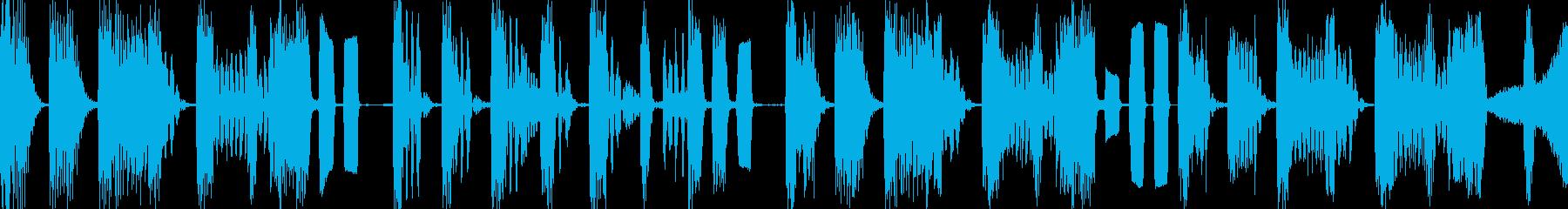 ループ素材。コミカルな考え中のシーンの再生済みの波形