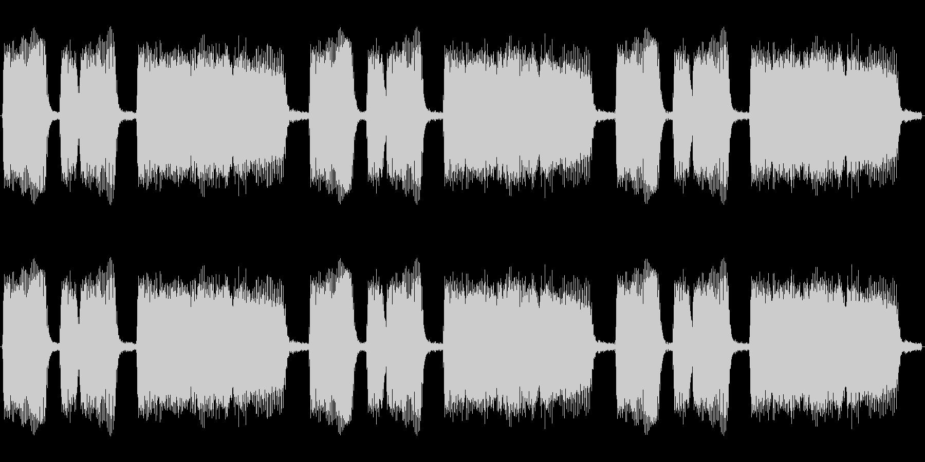 危機場面に流れそうなエレキギターのループの未再生の波形