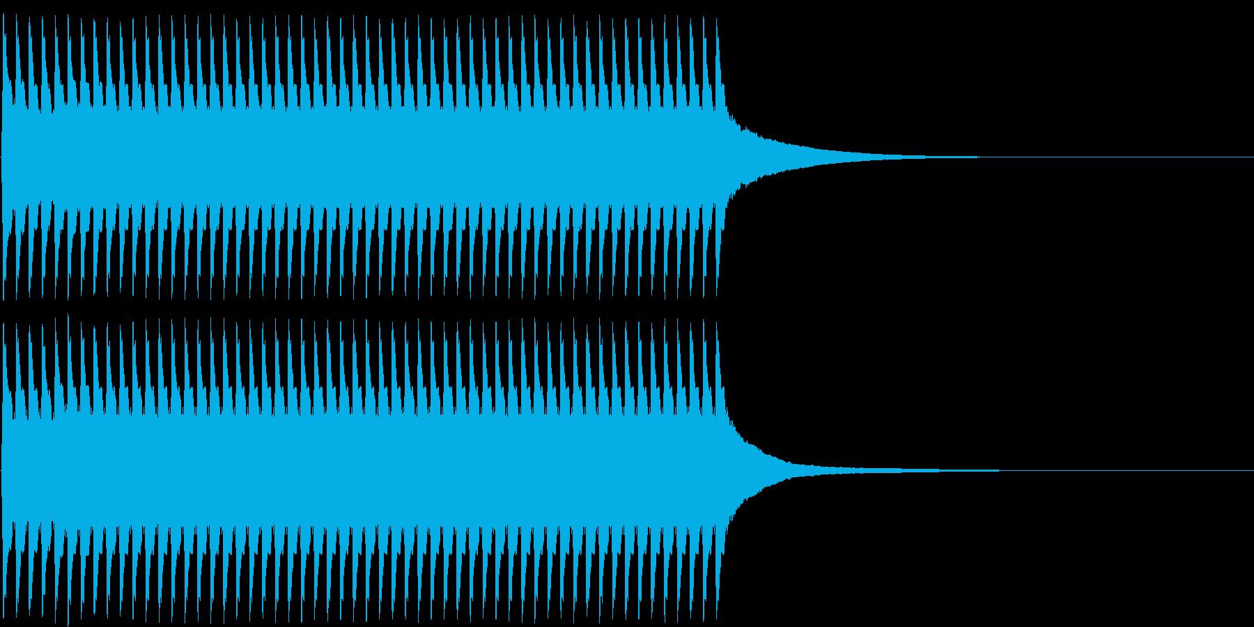 ジリリリ...。目覚まし時計の音(短め)の再生済みの波形