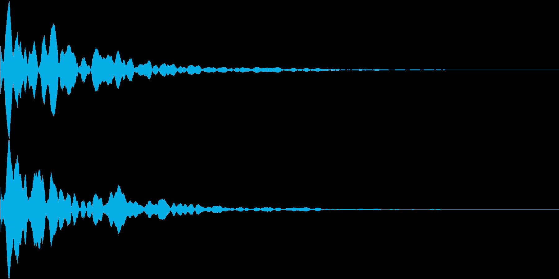カーソル移動音(ピコン)の再生済みの波形