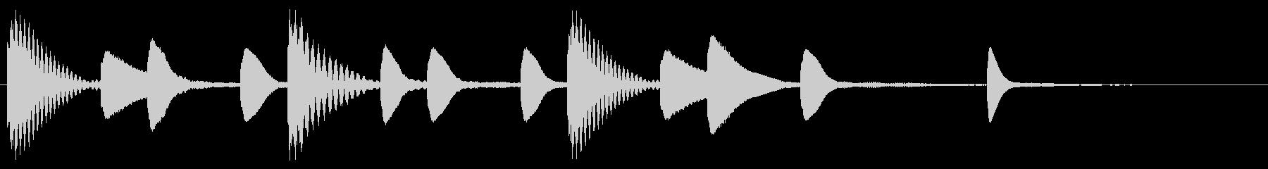 軽やかなマリンバによるサウンドロゴの未再生の波形